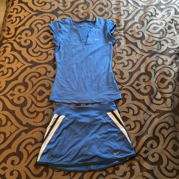 Nike Dri-Fit Blue Tennis Set